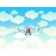 Aeroplane in Blue Sky - GraphicRiver Item for Sale