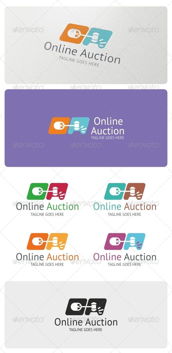 Online Auction Logo Template - Symbols Logo Templates
