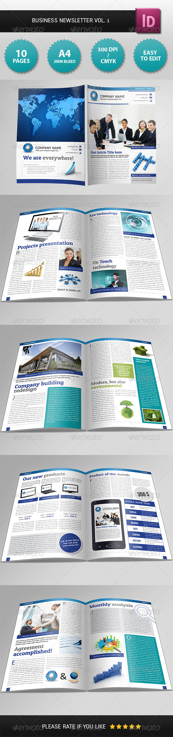 Business Newsletter Vol. 1 - Newsletters Print Templates