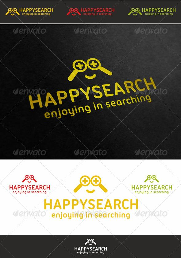 Happy Search Face Logo - Humans Logo Templates