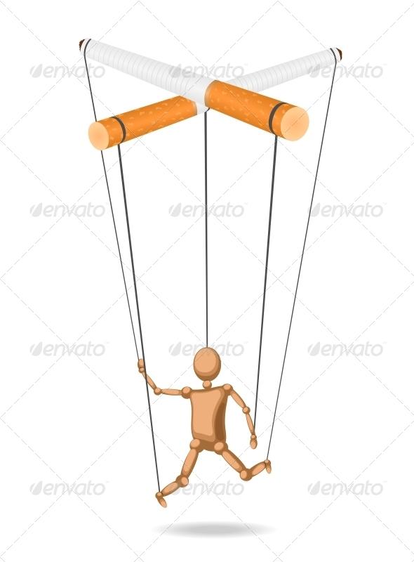 Concept of Cigarettes - Health/Medicine Conceptual
