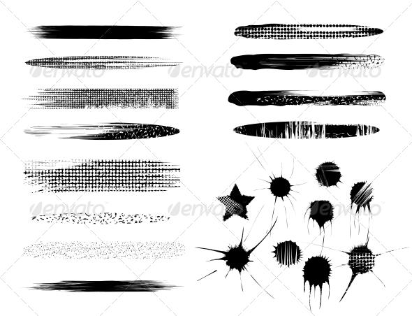 Set of Brushes - Web Elements Vectors