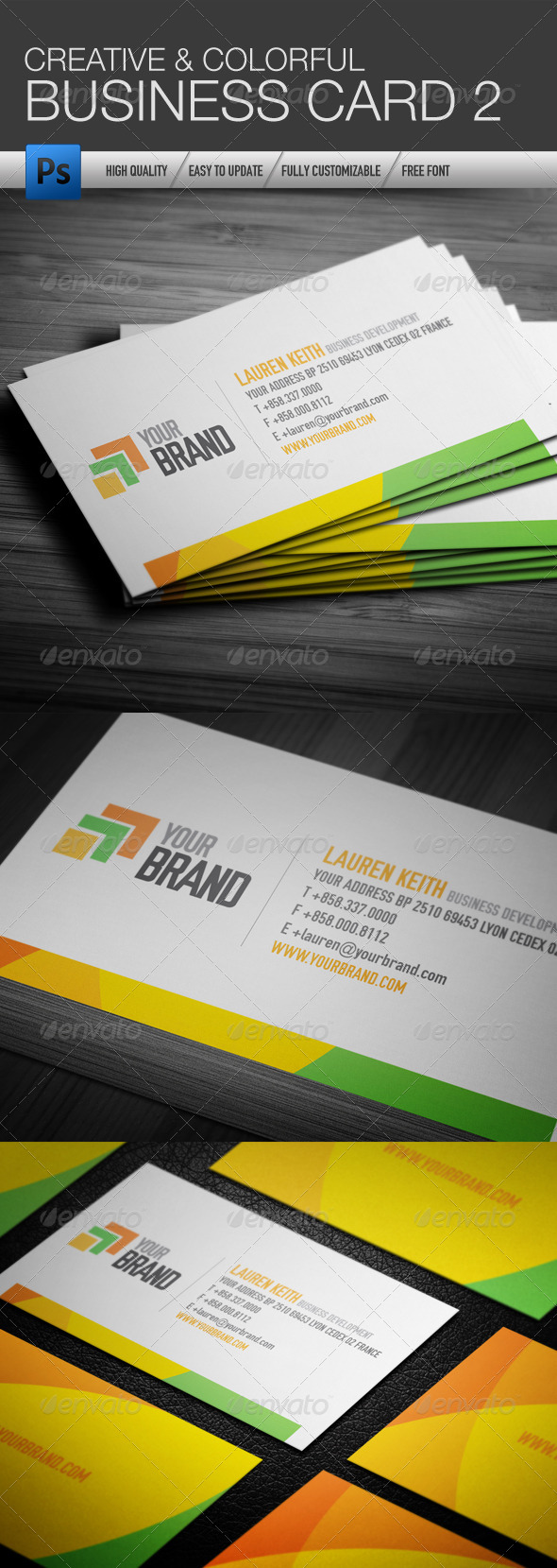 Creative and Colorful Business Card 2 - Creative Business Cards