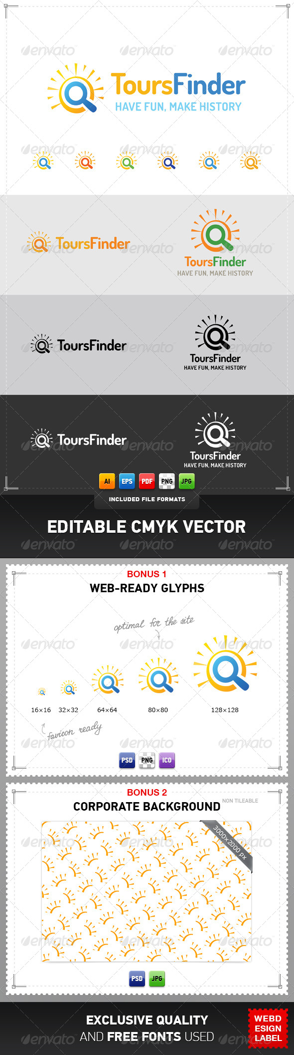 Tours Finder Logo - Symbols Logo Templates