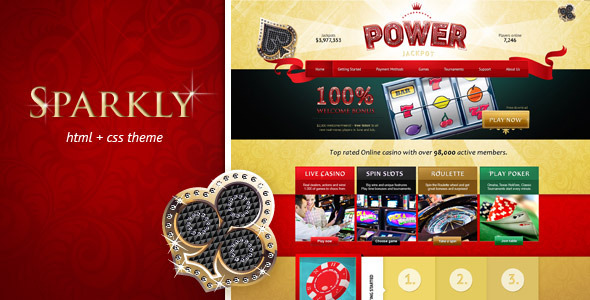 Power Jackpot - glossy and shiny HTML theme - Entertainment Site Templates