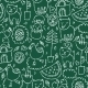 Cute Seamless Chalkboard Pattern - GraphicRiver Item for Sale