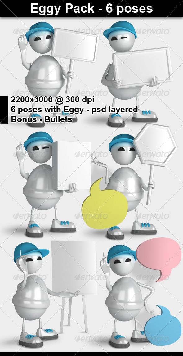 Eggy Character 3D Render - Characters 3D Renders