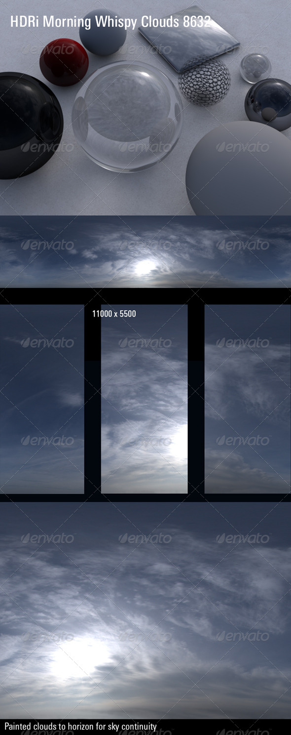 HDRi Morning Whispy Clouds 8632 - 3DOcean Item for Sale