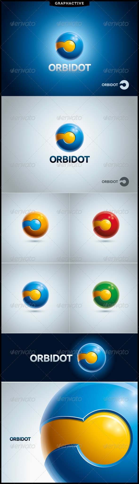Orbidot Globe Logo Template - 3d Abstract