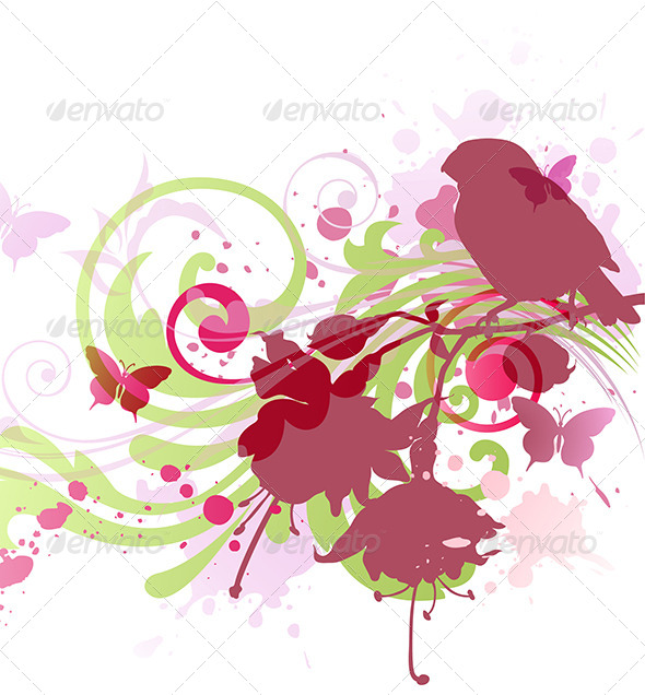 Abstract  Background with Bird - Abstract Conceptual