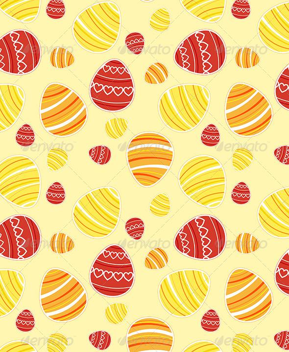 Yellow Easter Seamless Pattern - Patterns Decorative