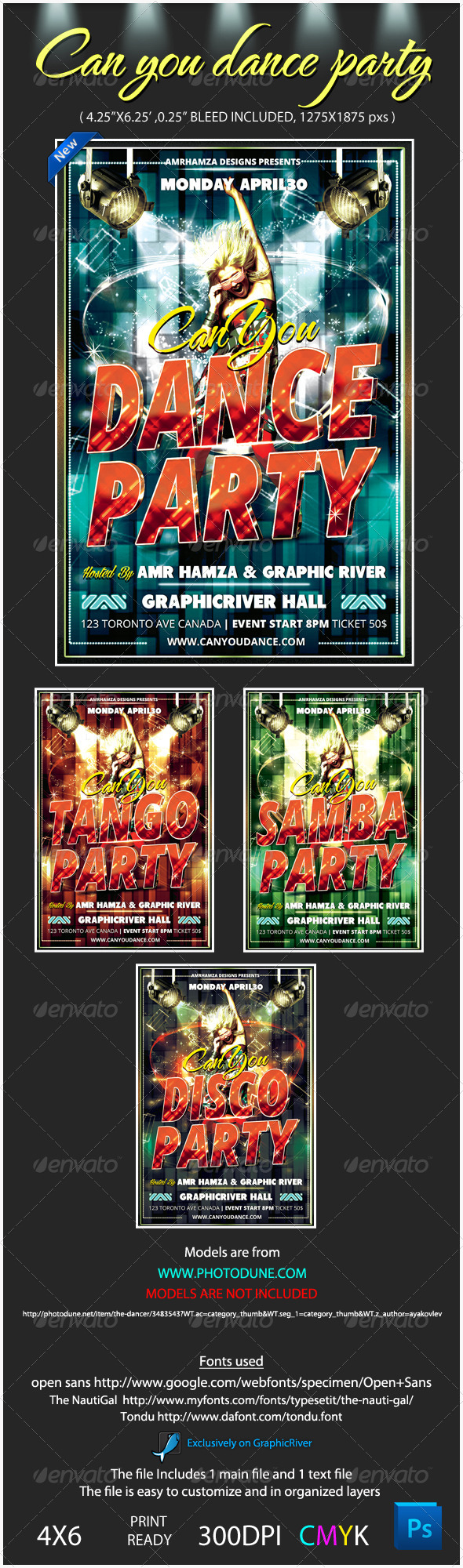 Talent Dance Show Flyer Template - Events Flyers