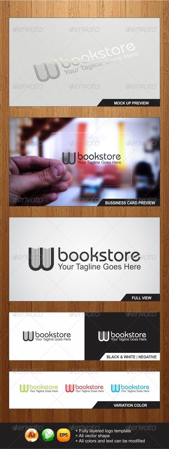 W Bookstore Logo Template - Symbols Logo Templates
