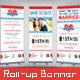 Wedding Roll-up Banner - Sports Pass - GraphicRiver Item for Sale