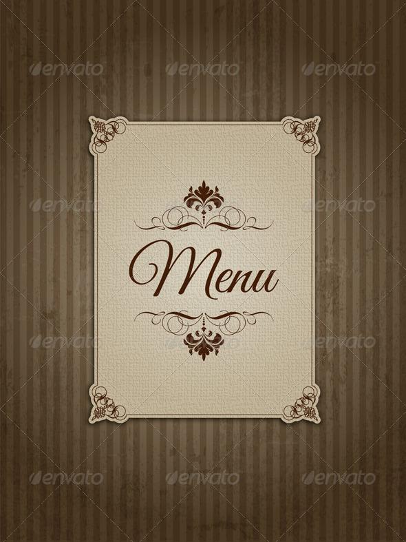 Vintage Menu Design - Backgrounds Decorative