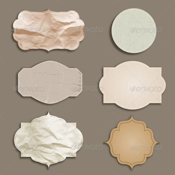 Grunge Labels - Backgrounds Decorative