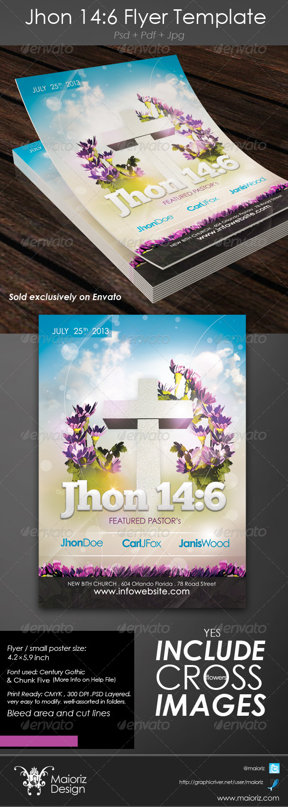 John 14:6 Flyer - Church Flyers