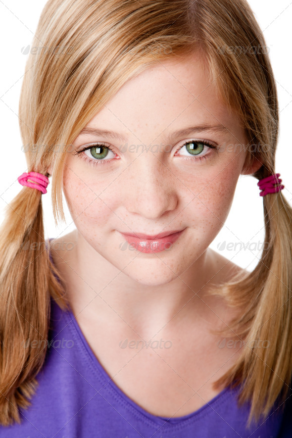 Beauty face of  teenager girl - Stock Photo - Images