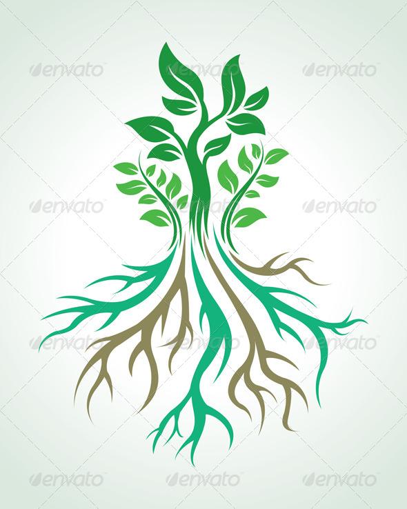Roots Vector - Nature Conceptual