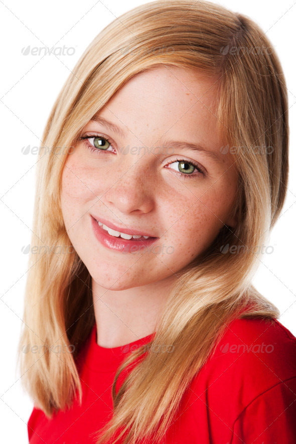 Face of happy child - Stock Photo - Images