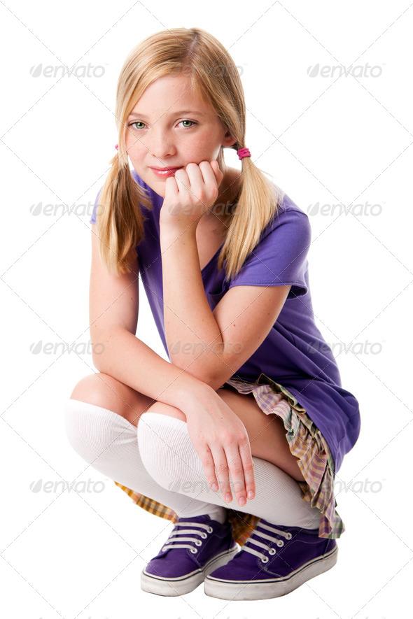 Happy teenage girl - Stock Photo - Images