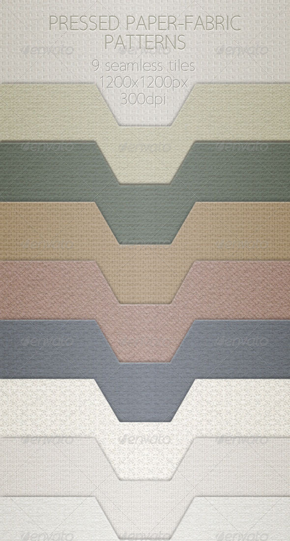 Pressed Paper-Fabric Pattern Tiles  - Paper Textures