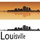 Louisville Skyline in Orange Background - GraphicRiver Item for Sale