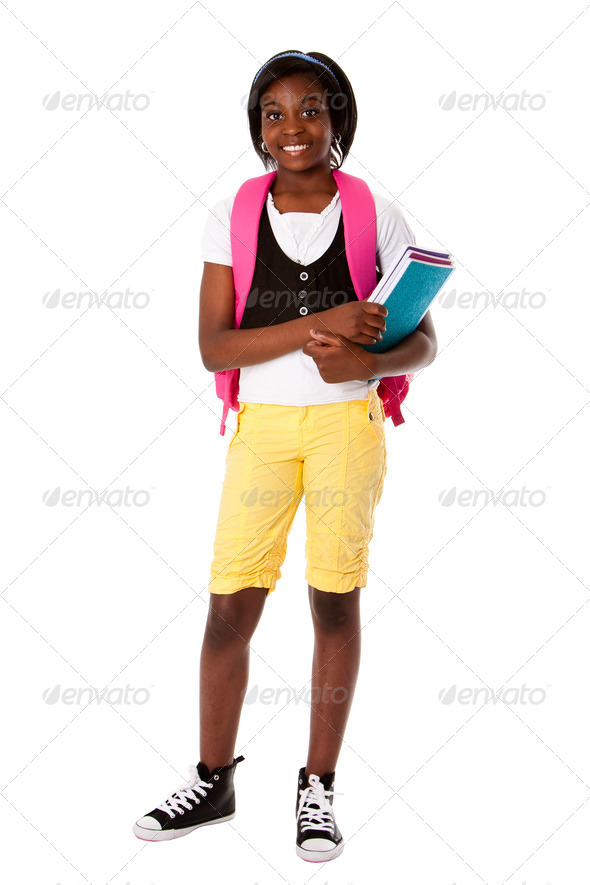 Student ready for school - Stock Photo - Images