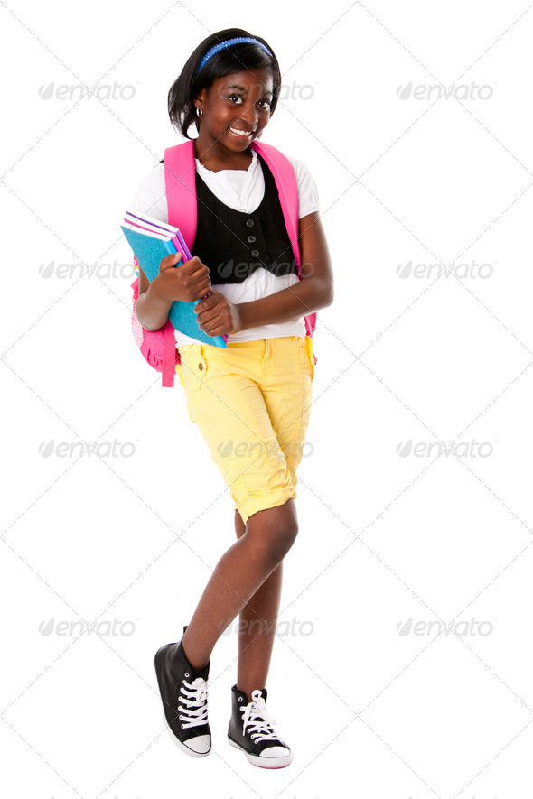 Happy student with notebooks - Stock Photo - Images