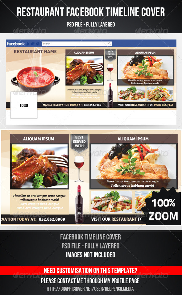 Restaurant Facebook Timeline Cover - Facebook Timeline Covers Social Media