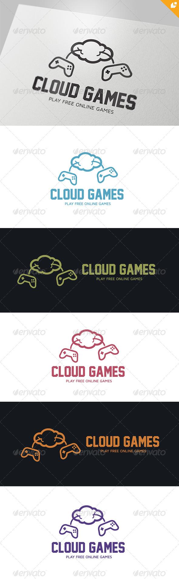 Cloud Games Logo - Humans Logo Templates