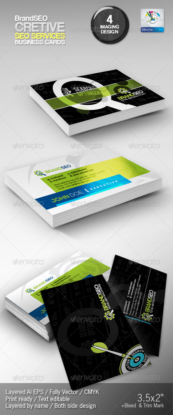 BrandSEO Creative Business Cards - Corporate Business Cards