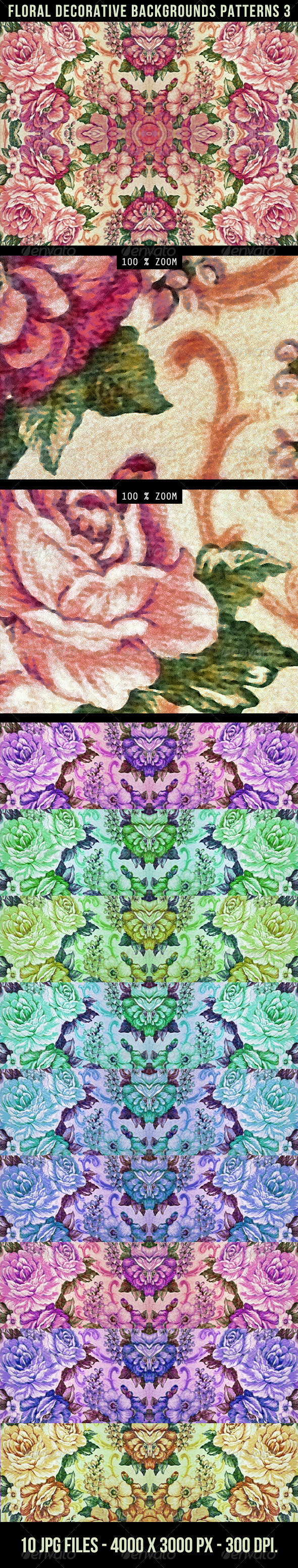 Floral Decorative Background Pattern 3 - Patterns Decorative