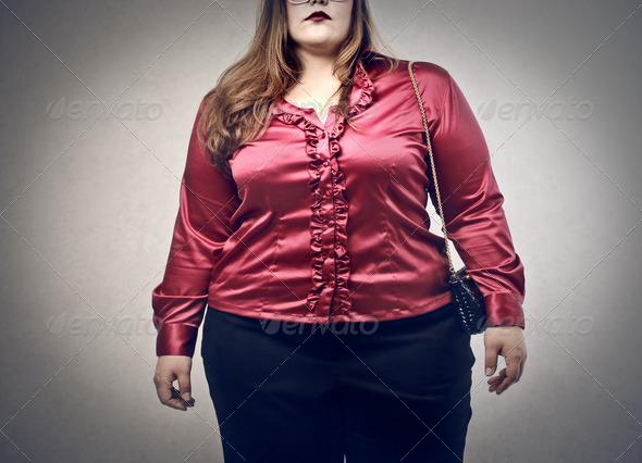 oversize woman - Stock Photo - Images