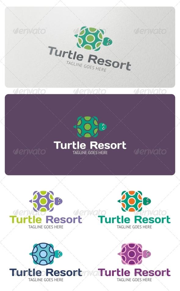 Turtle Resorts Logo Template - Animals Logo Templates