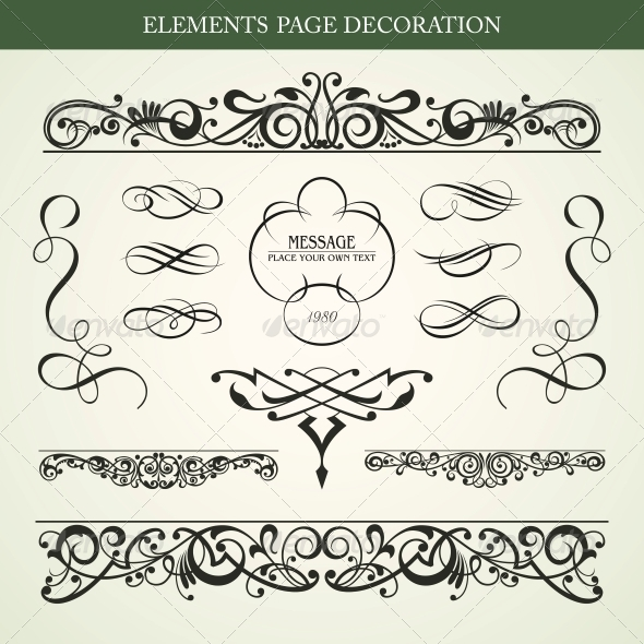 Elements Page Decoration - Decorative Symbols Decorative