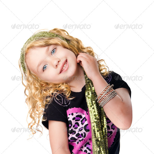 Cute rocker girl - Stock Photo - Images