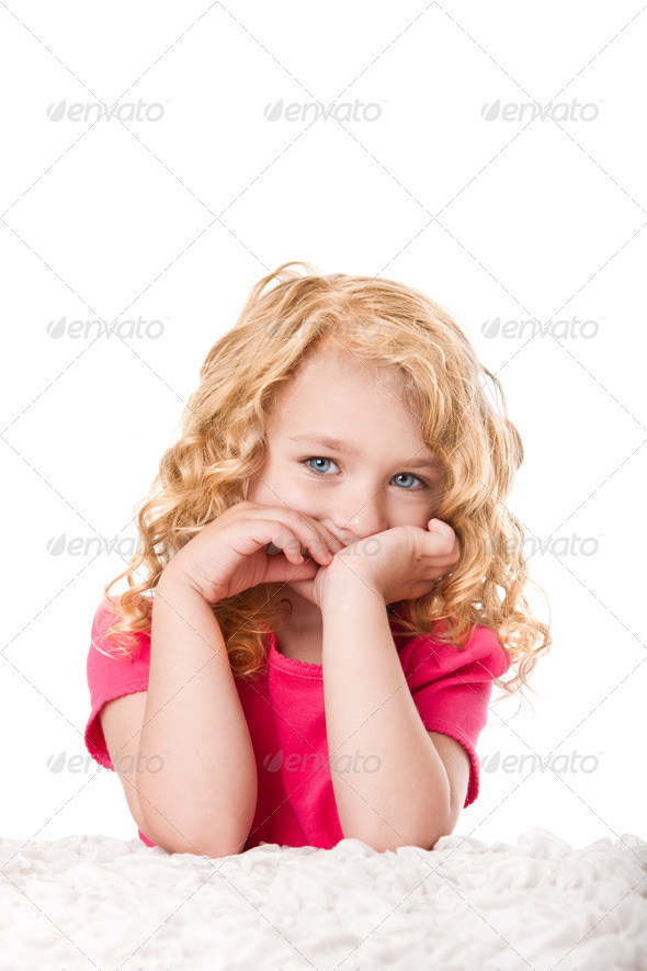 Cute goldilocks girl - Stock Photo - Images