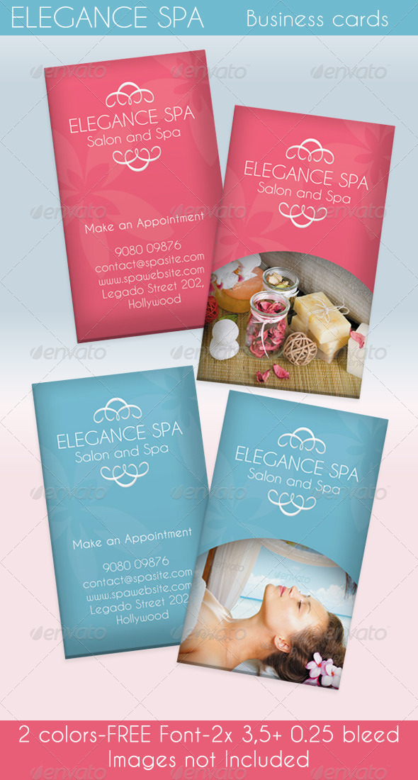 Elegance Spa Card - 2 Colors - Industry Specific Business Cards