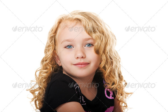 Beautiful face of a young girl - Stock Photo - Images