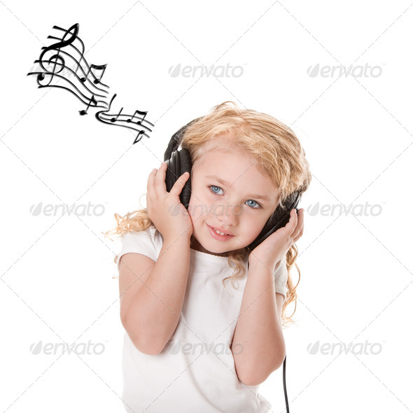 Fun listening to music - Stock Photo - Images