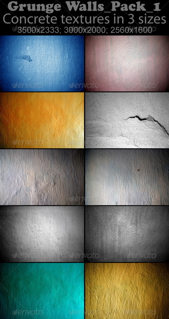 Grunge Walls_Pack_1 - Concrete Textures