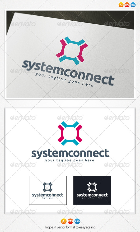 System Connect Logo - Symbols Logo Templates