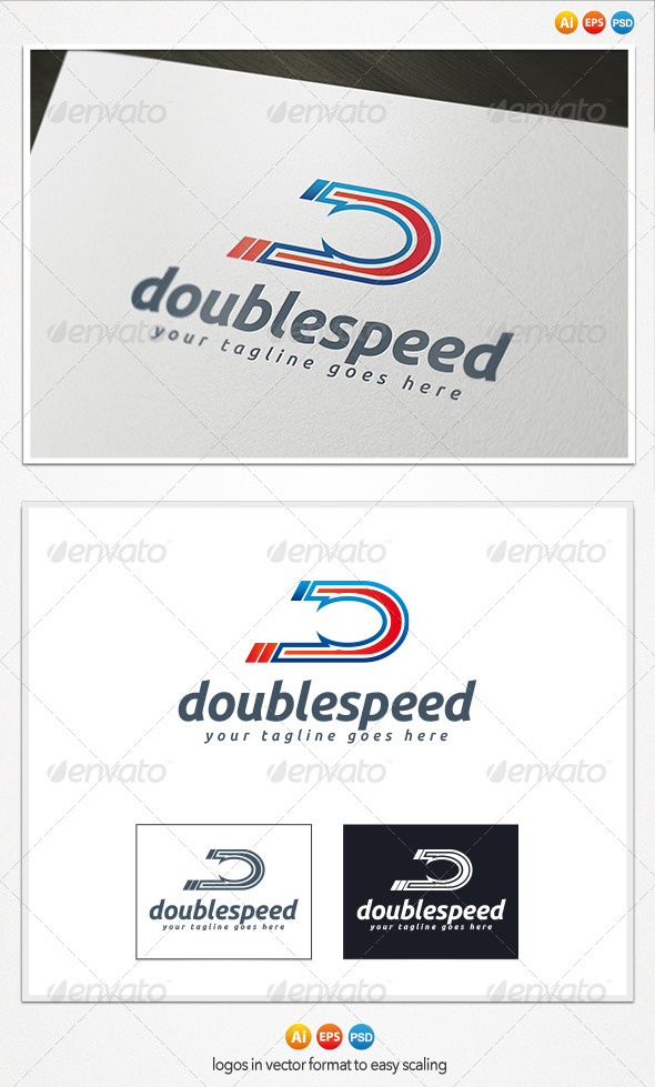 Double Speed Logo - Letters Logo Templates