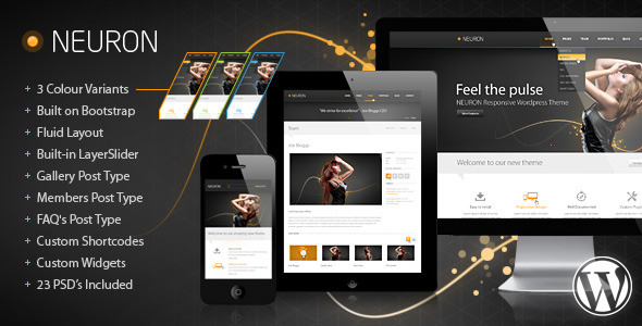 Neuron Responsive WordPress Theme - Creative WordPress