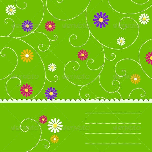 Abstract Green Floral Background - Backgrounds Decorative