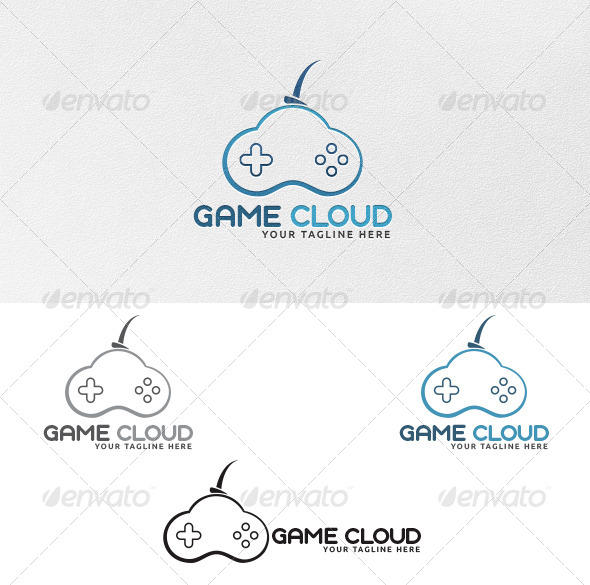 Game Cloud - Logo Template - Vector Abstract
