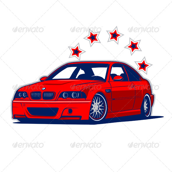 Race Car and Stars - Sports/Activity Conceptual