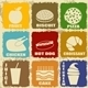 Set of Vintage Food Icons - GraphicRiver Item for Sale