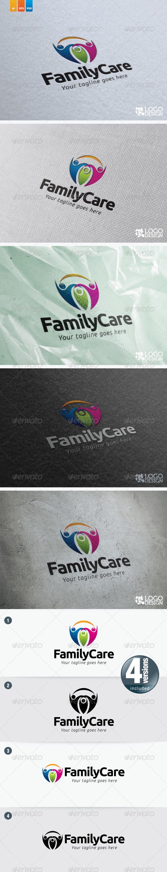 Family Care - Humans Logo Templates